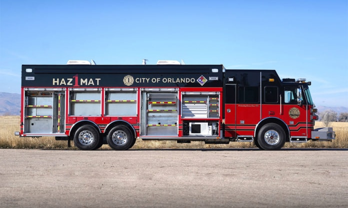 """Featured image for """"Orlando Fire Departments Gives Fire Truck Walk Around, Featuring this SVI Hazmat Truck"""""""