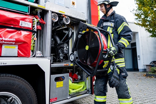 """Featured image for """"Latest Battery Fan Technology Opening Door for Evolution of Firefighting Tactics in Europe"""""""