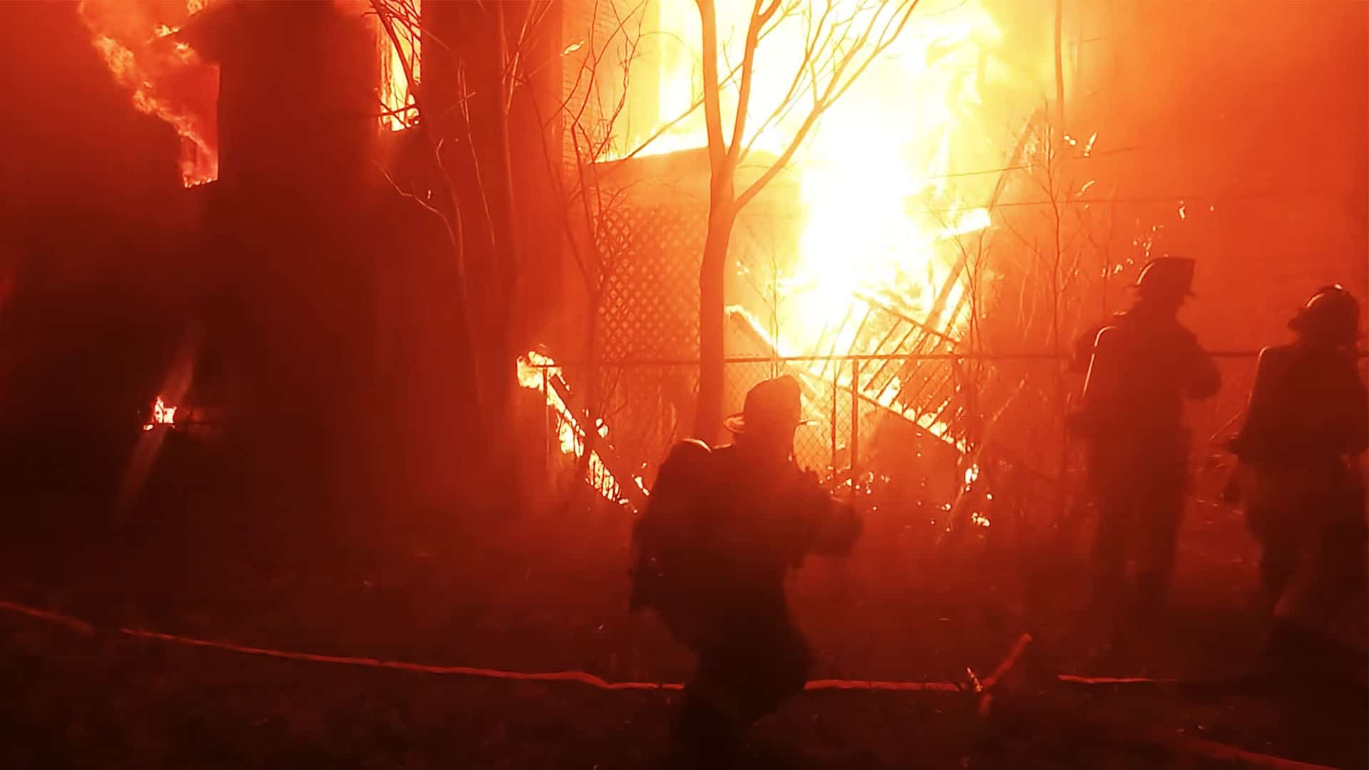 """Featured image for """"WATCH: Firefighters Combat Fire Encompassing Multiple Houses in Arnold, PA"""""""