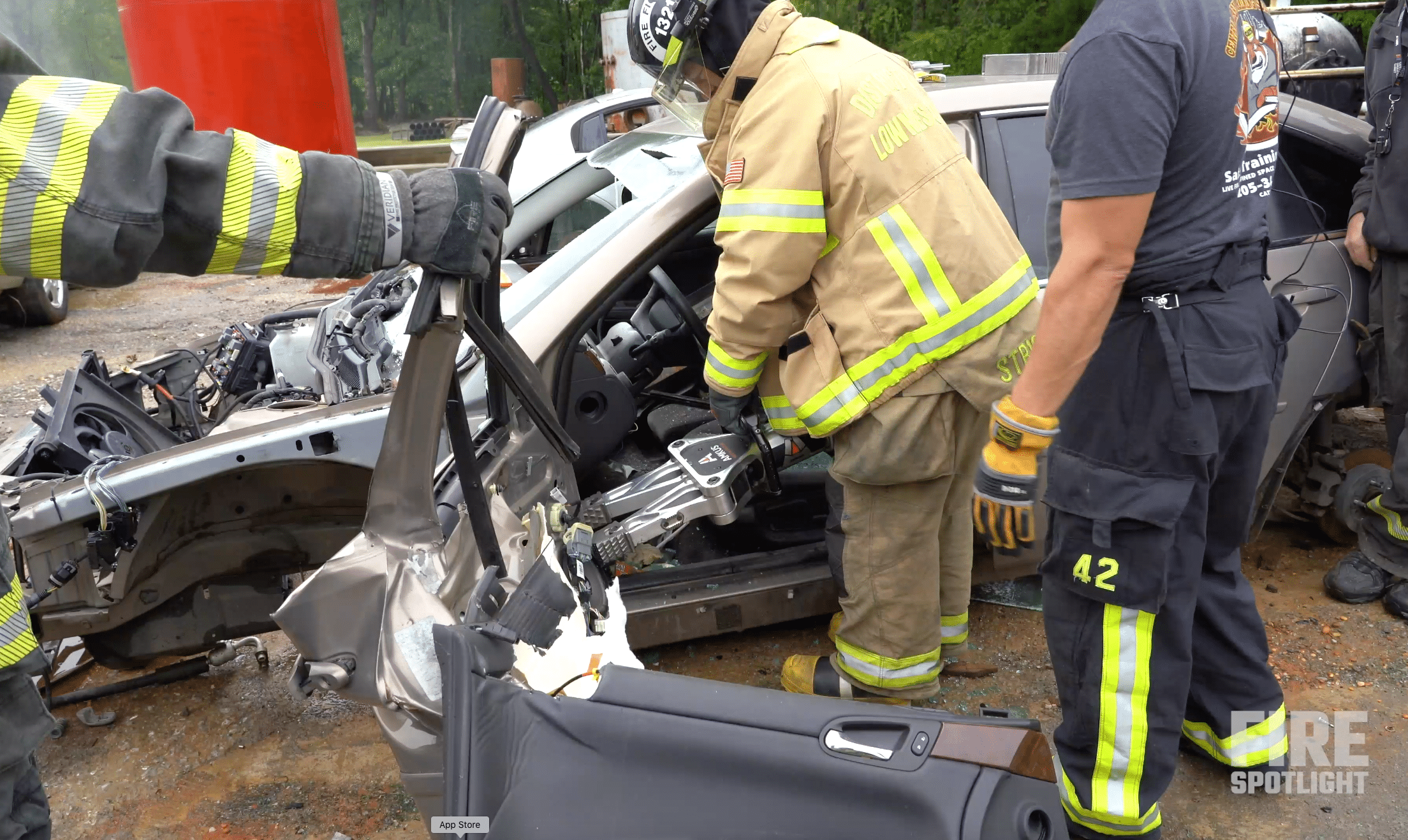 """Featured image for """"Watch AMKUS Rescue Tools Provide Vehicle Extrication Training Course in This Firefighter Training Video"""""""