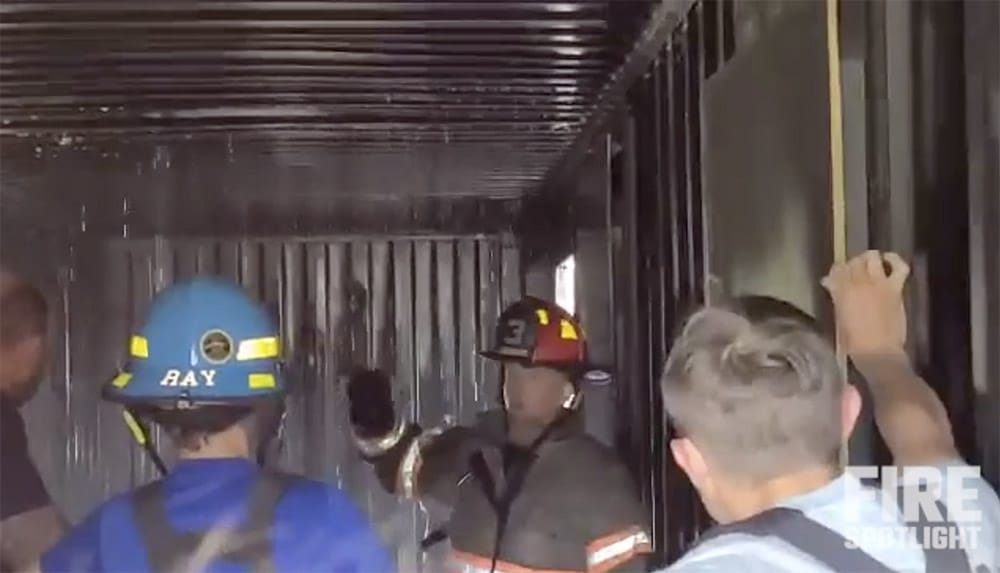 """Featured image for """"Firefighter Hose Training Techniques Using Shipping Container Training With Beaver Lane Fire & Rescue"""""""