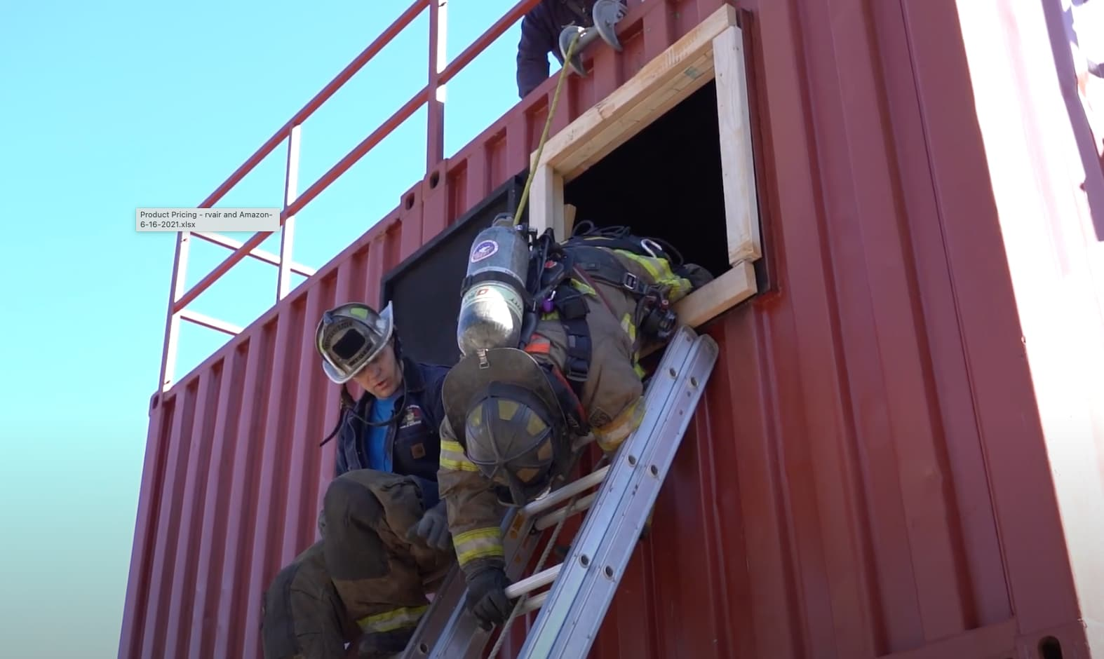 """Featured image for """"Instructor Teaches Self-Rescue Techniques for a Firefighter Window Hang and Ladder Bails"""""""