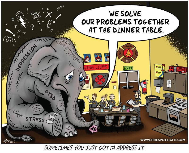 """Featured image for """"Elephant in the Room – Firefighter Mental Health"""""""