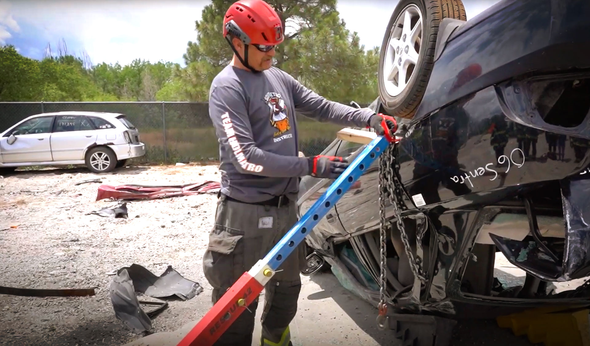 """Featured image for """"Firefighters Undergo Vehicle Stabilization Training Using Rescue 42 Struts"""""""